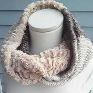 3/$20 *Knits & Knacks Mixed media Infinity Scarf